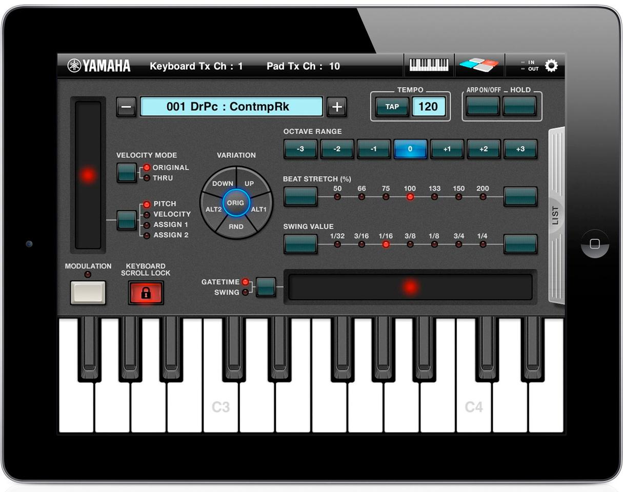 Yamaha releases Arp & Drum app for iPad