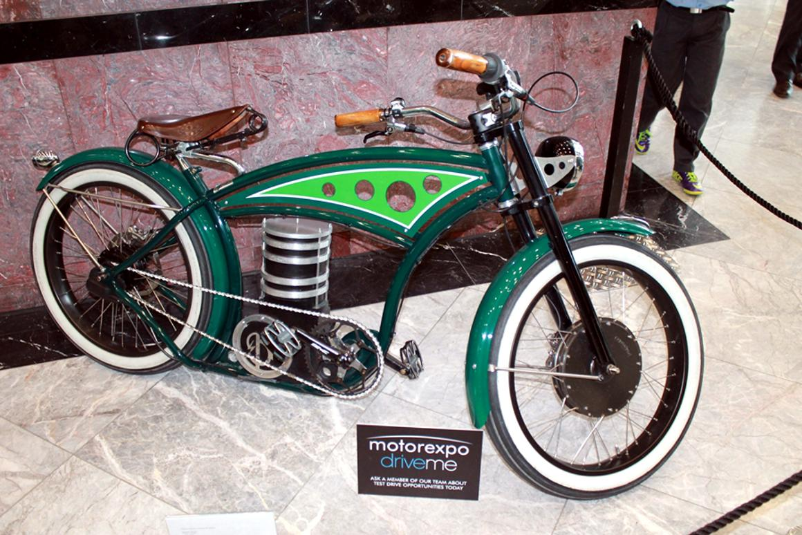 A B4 Bikes e-cruizer on display at London Motorexpo (Photo: Stu Robarts/Gizmag)
