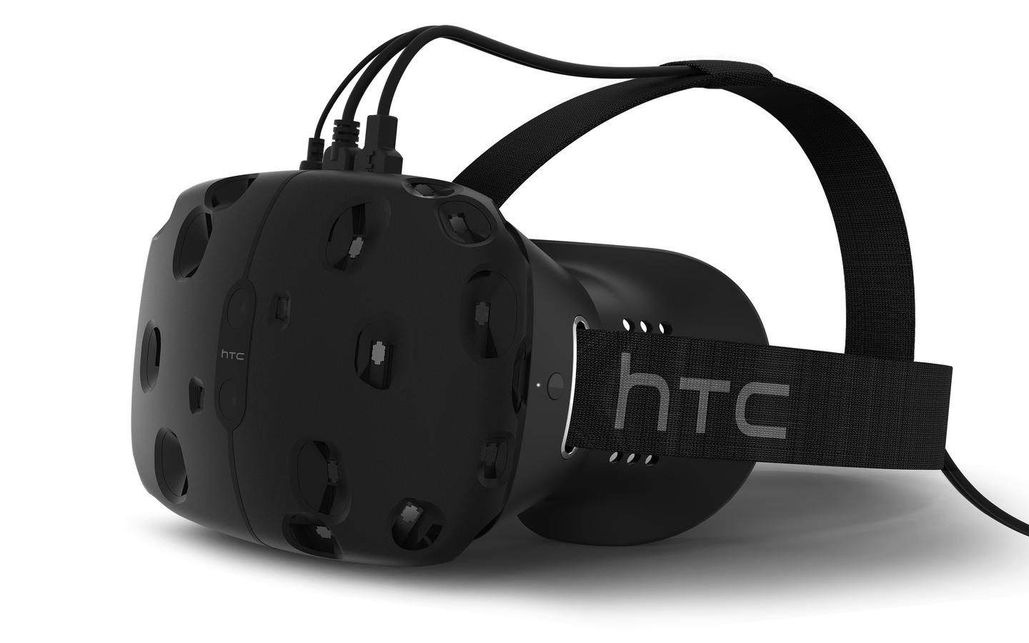 The developer edition of the HTC Vive