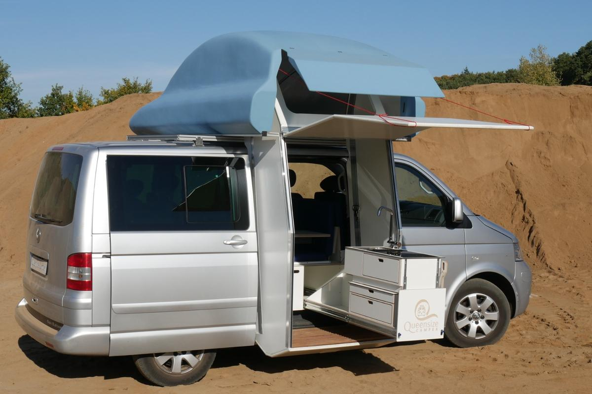 The Queensize Camper Galeria ForFour concept is avery different style of Volkswagen camper van