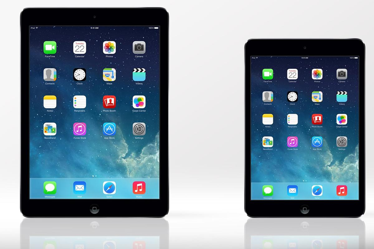 Gizmag compares the features and specs of the iPad Air and iPad mini with Retina Display