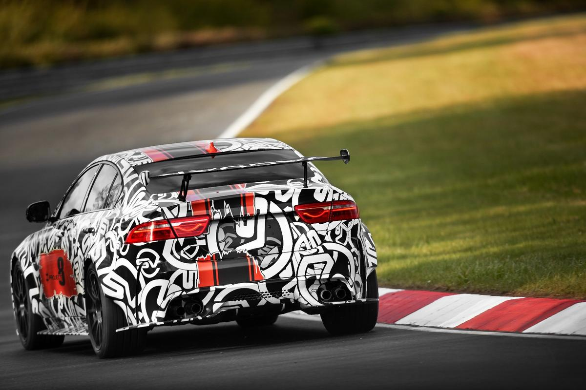 The Jaguar XESVProject 8 takes on theNurburgring