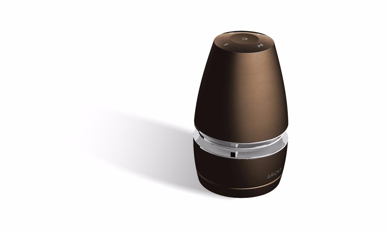 The Archt Mini speaker in dark gold