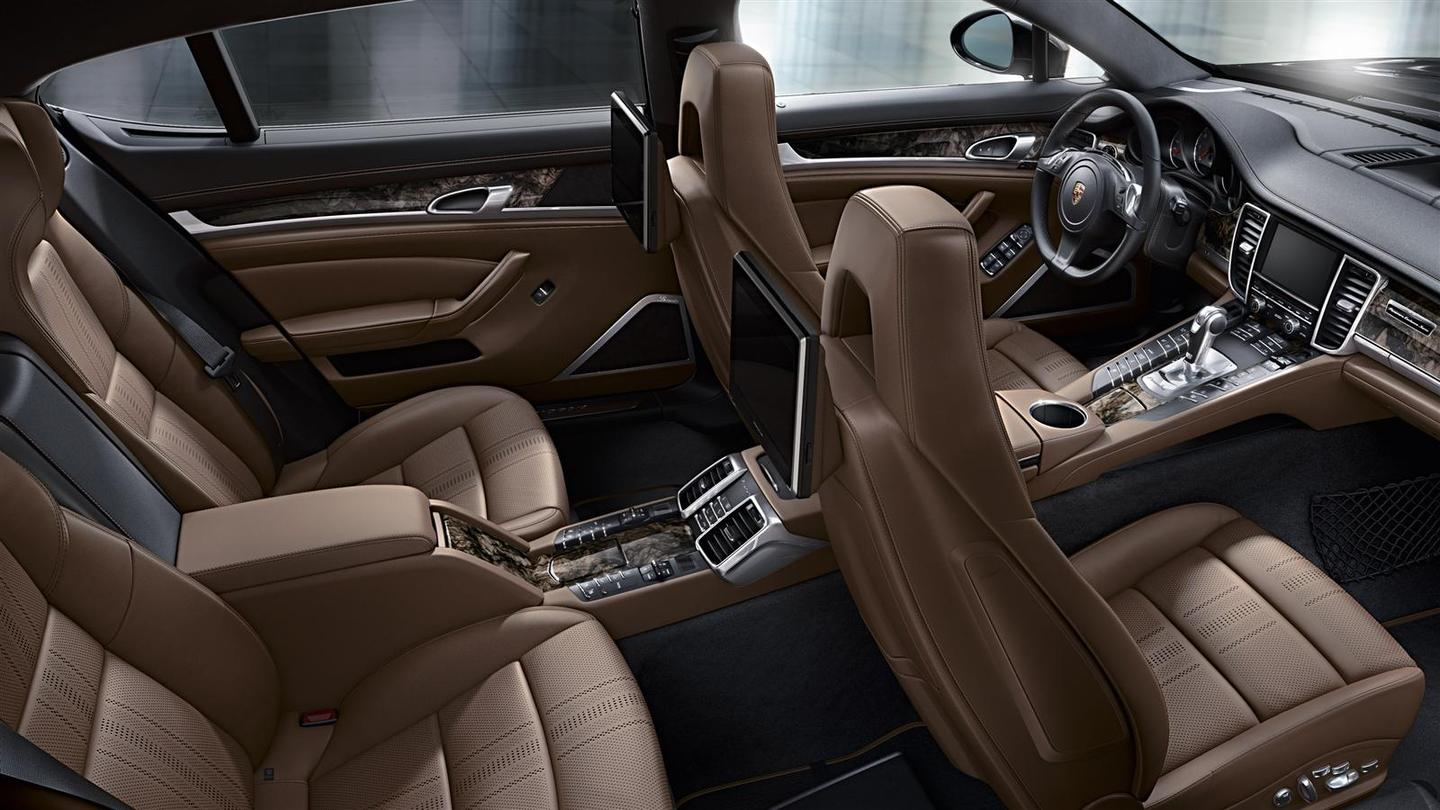 The Porsche Panamera Exclusive's rear-seat passengers benefit from a stretched wheelbase