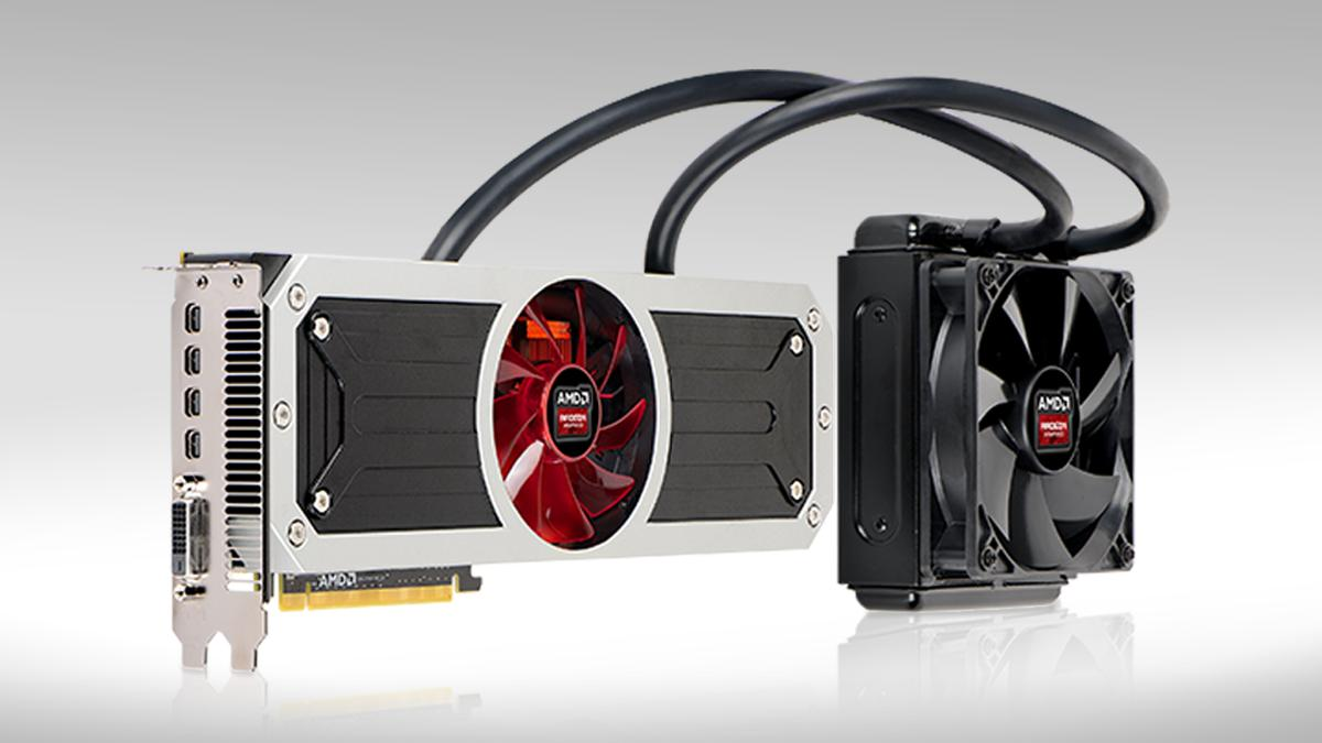 AMD's latest flagship graphics card sits directly between NVIDIA's rival Titan GPUs