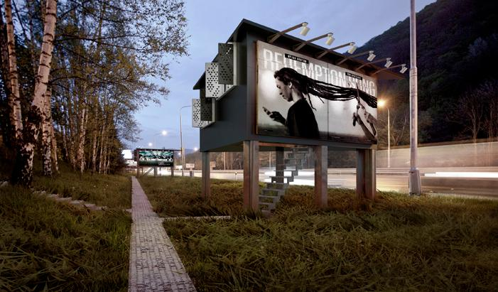 Project Gregory proposes the use of billboards-cum-shelters for housing the homeless