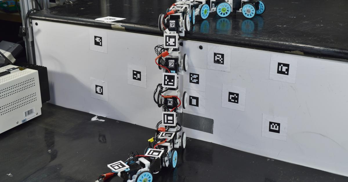 Snake-inspired robot slithers and climbs over obstacles