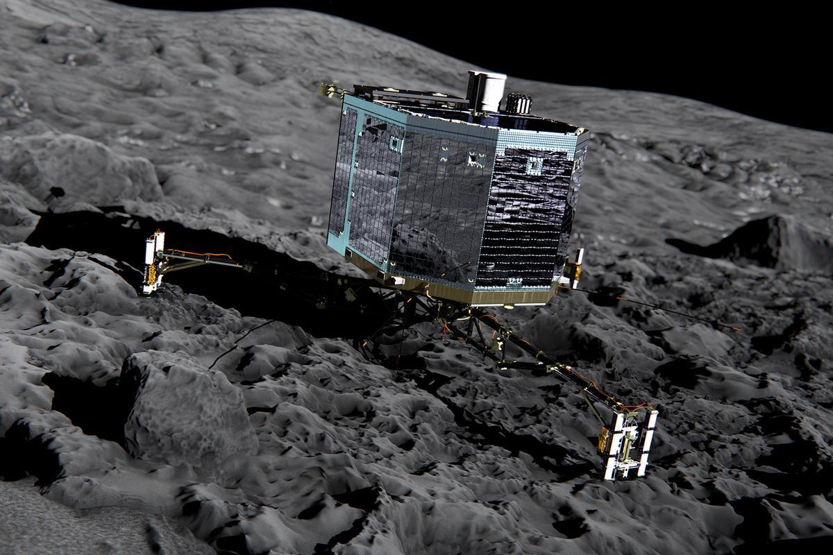 Artist's impression of the Philae lander at site Agilkia (Image: ESA)