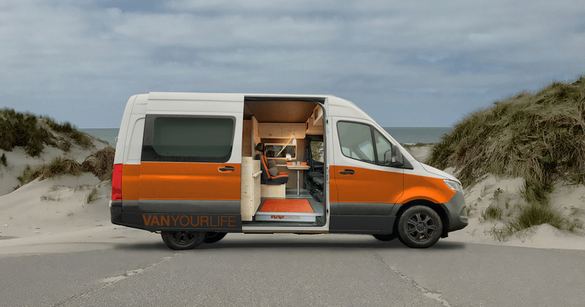 Flowcamper van packs in clever expansion and woodsy psychedelic style
