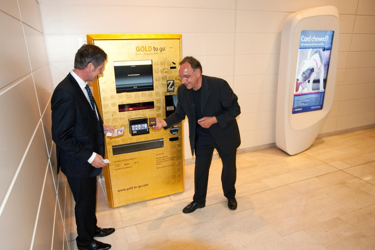The launch of the latest Gold-to-go ATM, at the Westfield Shopping Centre in London
