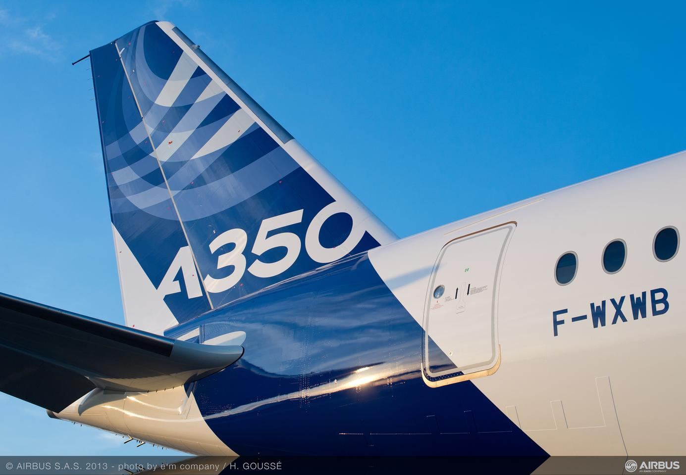 The A350 WXB is made mostly of advanced materials and composites