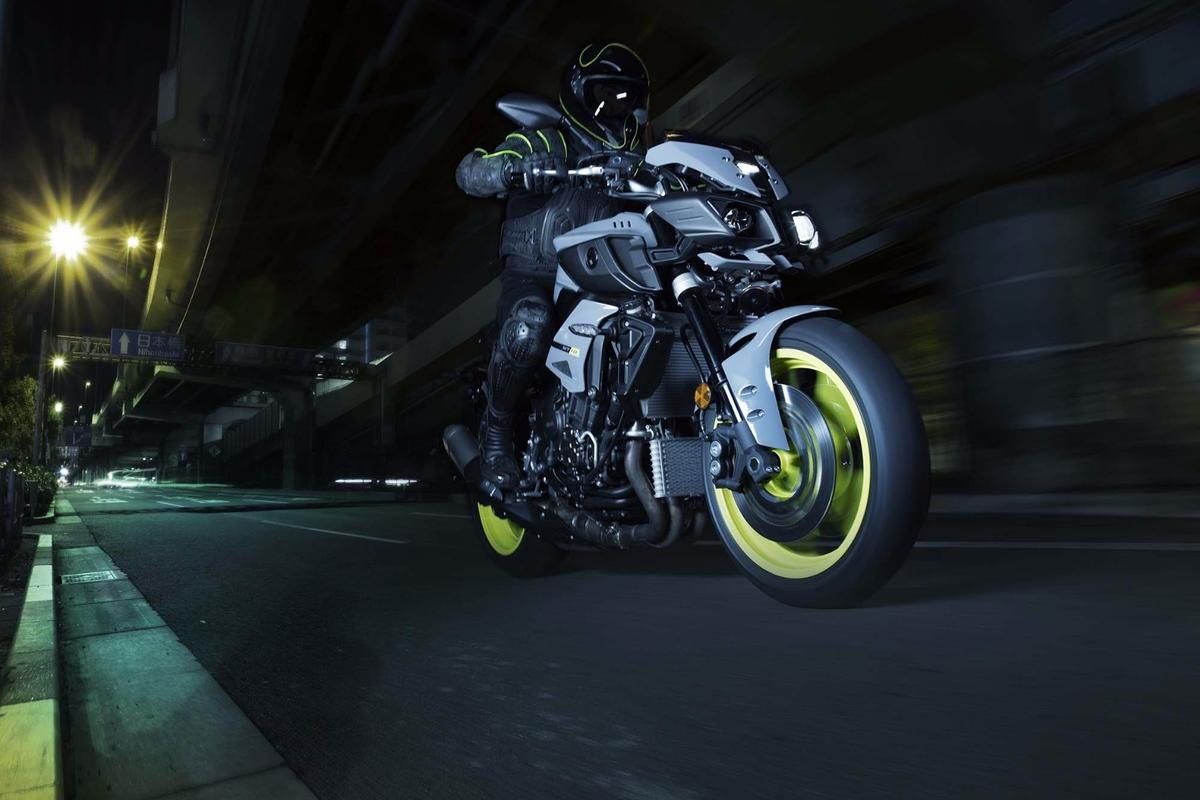 The front end of the Yamaha MT-10 is plain nasty