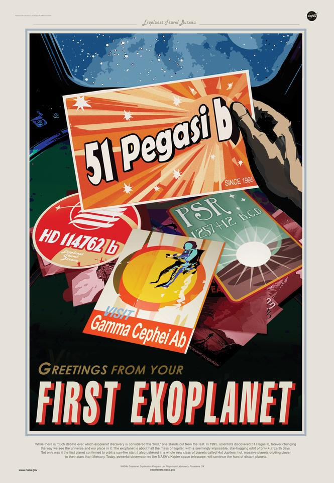 Travel poster for 51 Pegasi b
