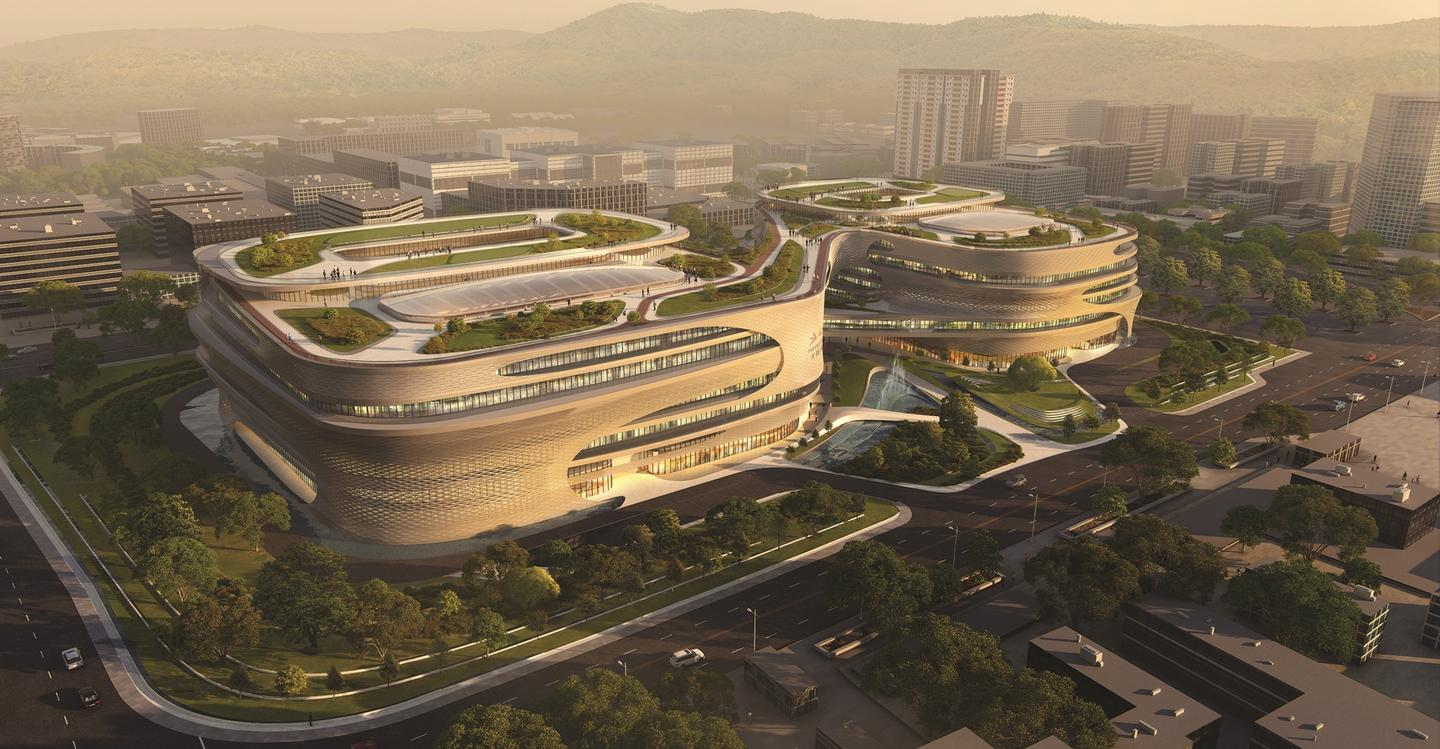 The Guangzhou Infinitus Plaza is said to be among the final architectural designs on which Zaha Hadid worked before her death
