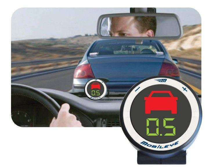 Mobileye's warning system alerts drivers to imminent forward collisions and other driving hazards