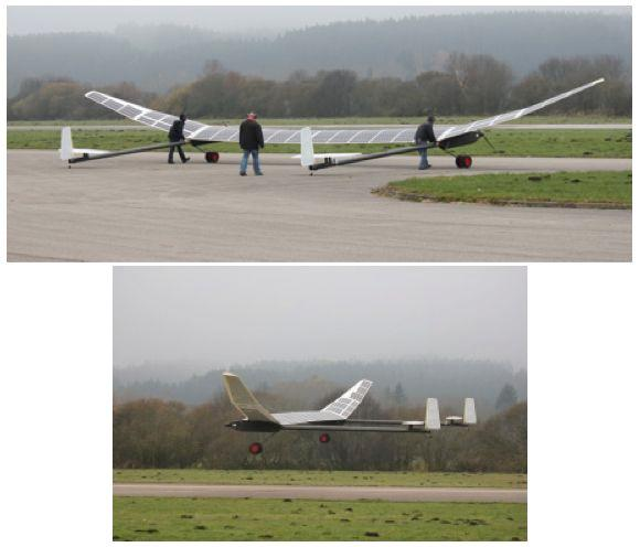 Germany's DLR Institute of Robotics and Mechatronics flew its unmanned solar-powered ELHASPA aircraft for the first time this month