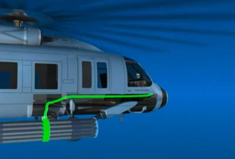 The LCITS system relies on the aircraft systems for targeting information