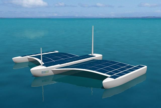 Eco Marine Power has unveiled plans for a solar-electric powered unmanned surface vessel