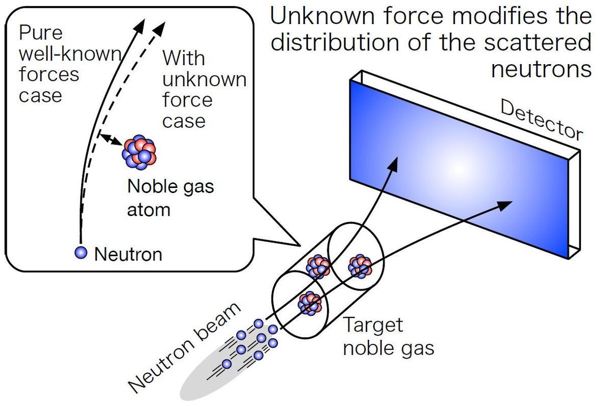 A diagram explaining how the neutron beam experiment works