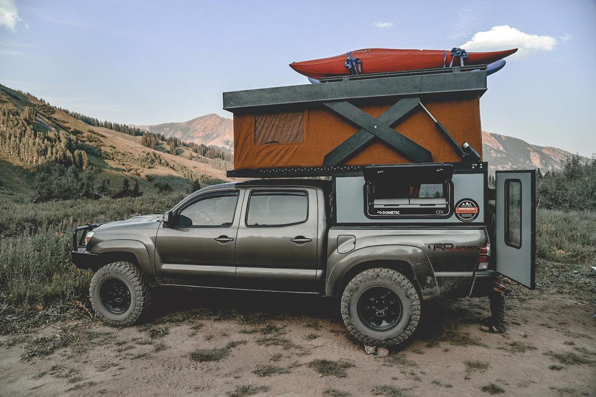 With the ability to hold up to 300 lb with its roof open, the Hower Base Camp ensures that owners don't have to unload gear when they don't want to