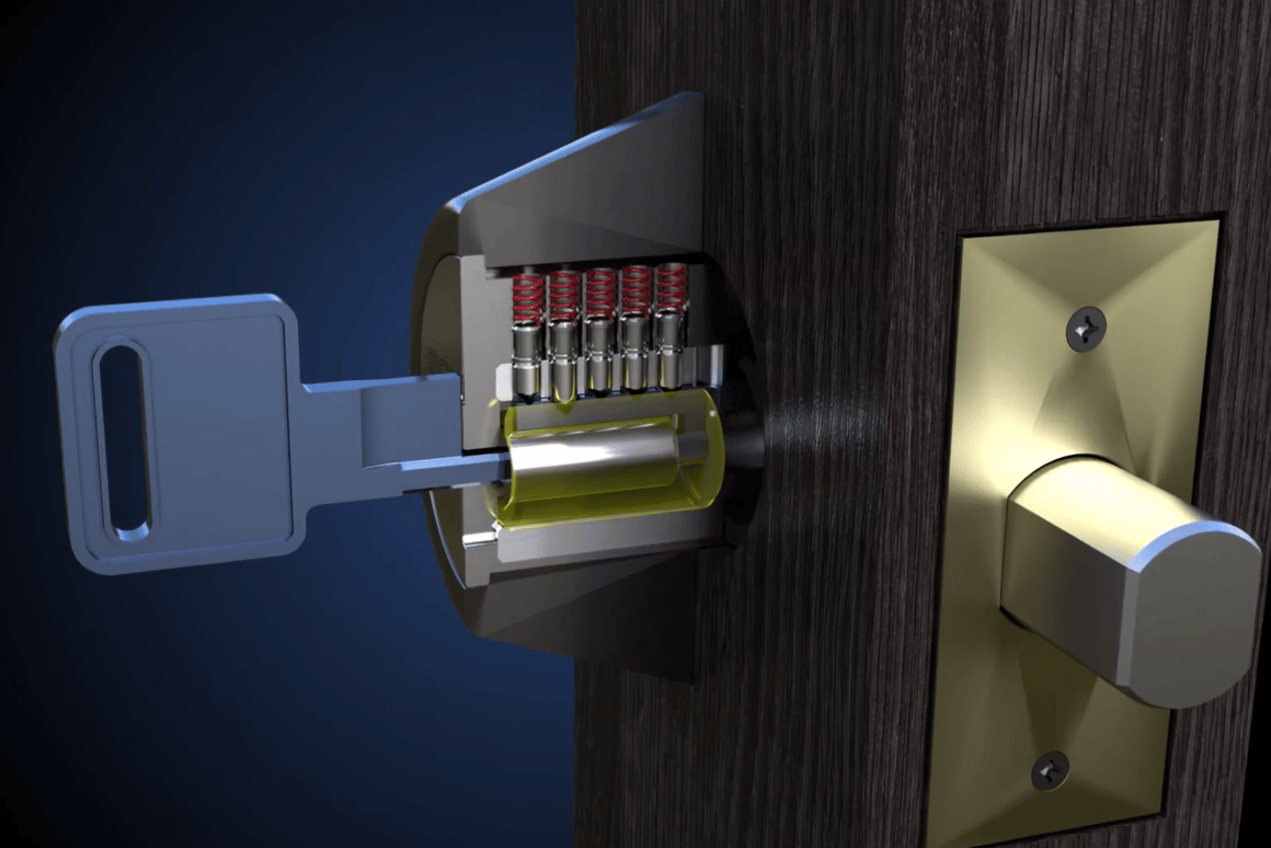 The Bowley Lock reportedly keeps objects other than its own key from engaging the pins
