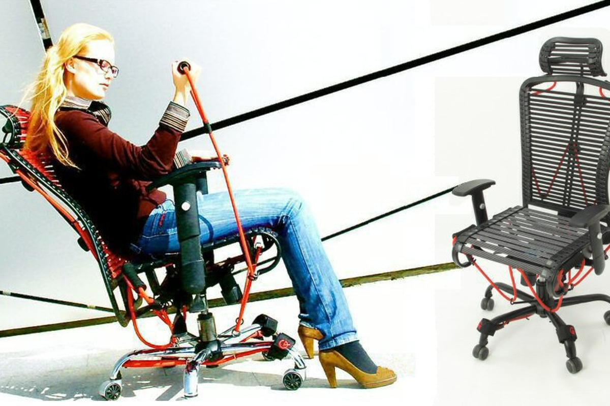 The GymyGym ergonomic exercise chair places a full body workout at your disposal without ever having to leave your desk