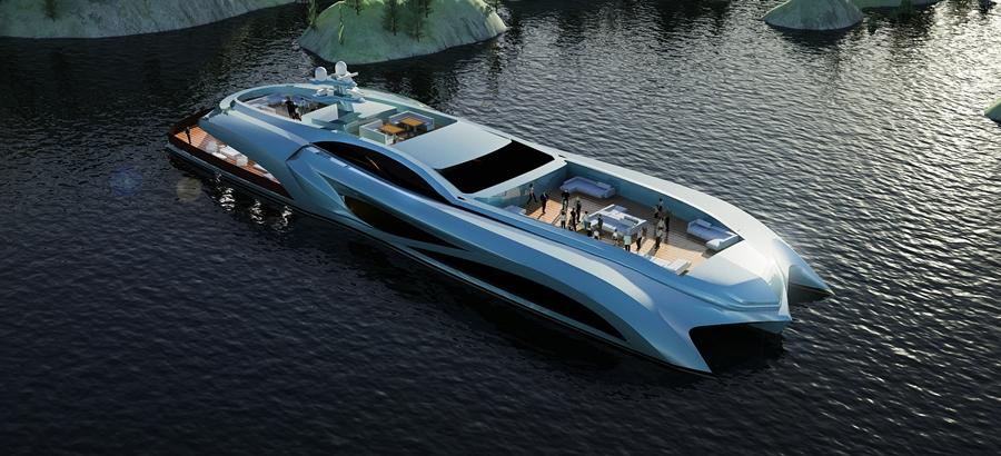The Xhibitionist – a superyacht designed for big events (Image: Nedship / Eduard Gray)