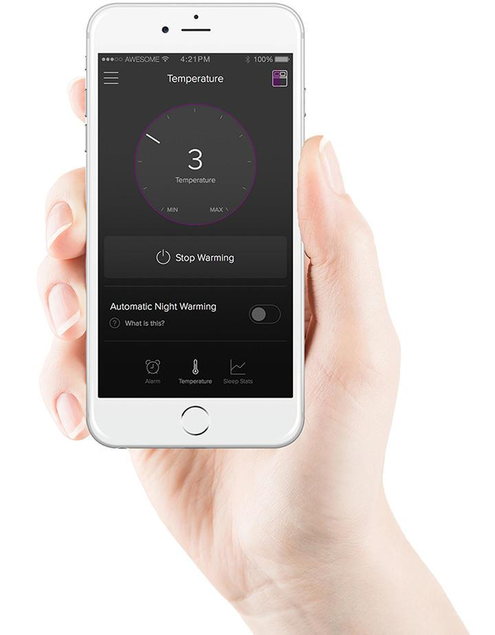Another noteworthy feature of Luna's connected mattress cover include the ability to use your smartphone as a remote