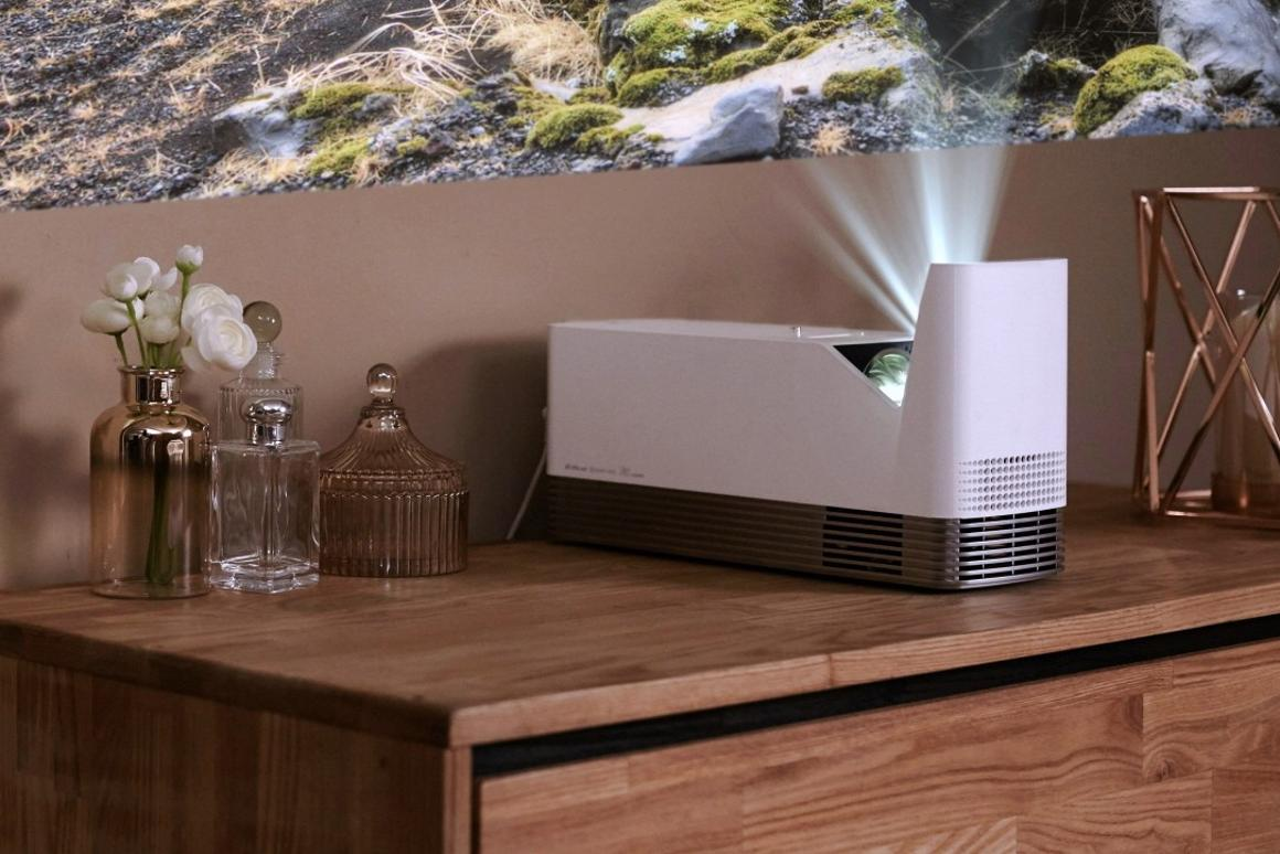 LG's new ProBeam UST projector is reported capable of throwing a 100 inch HD image onto a wall from just 12 cm away