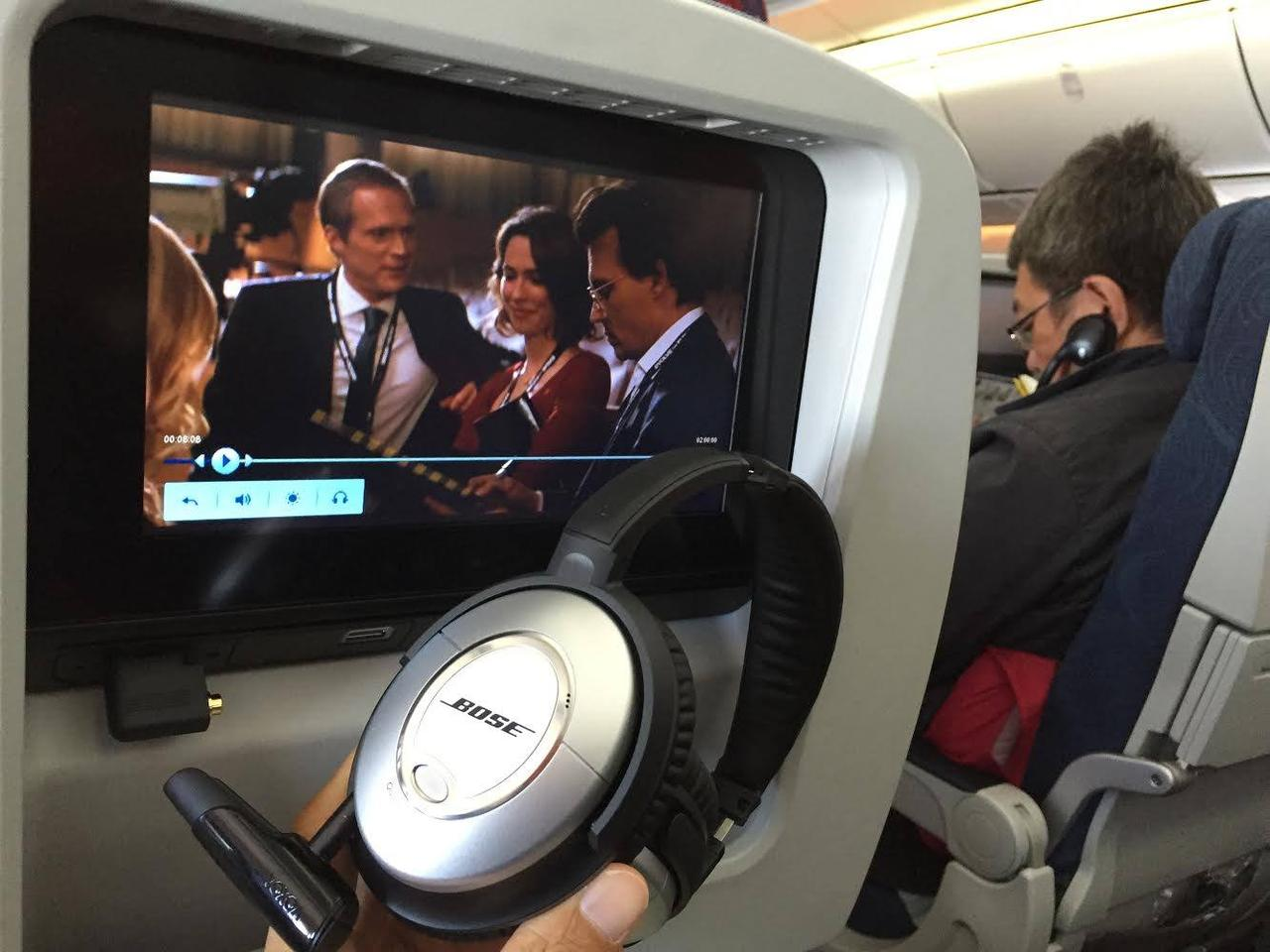 With the help of an optional Bluetooth transmitter, the BTunes system can be used for wireless audio on in-flight entertainment