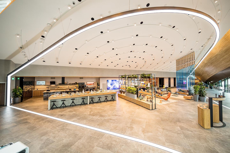 Samsung KX exhibition living area