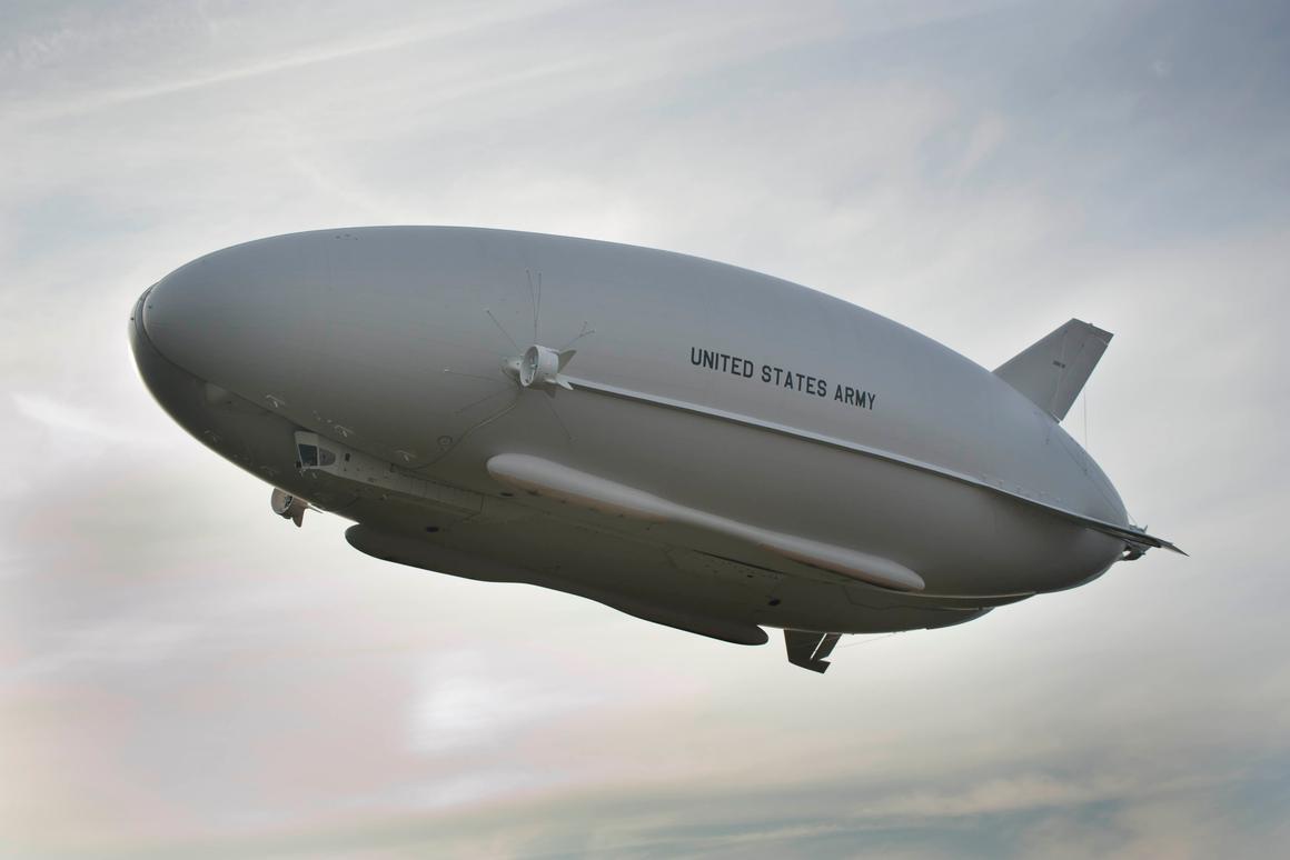 First flight of the Northrop Grumman LEMV airship (Photo: Northrop Grumman)