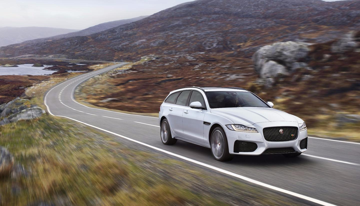 Jaguar relies heavily on aluminum construction to keep the XF Sportbrake light and nimble