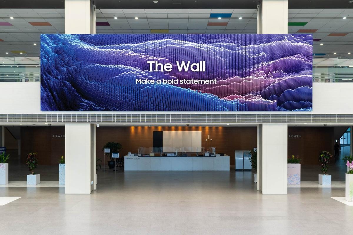 """The 2021 flavor of The Wall offers businesses more than a 1,000 inches of display """"canvas for showcasing content"""""""