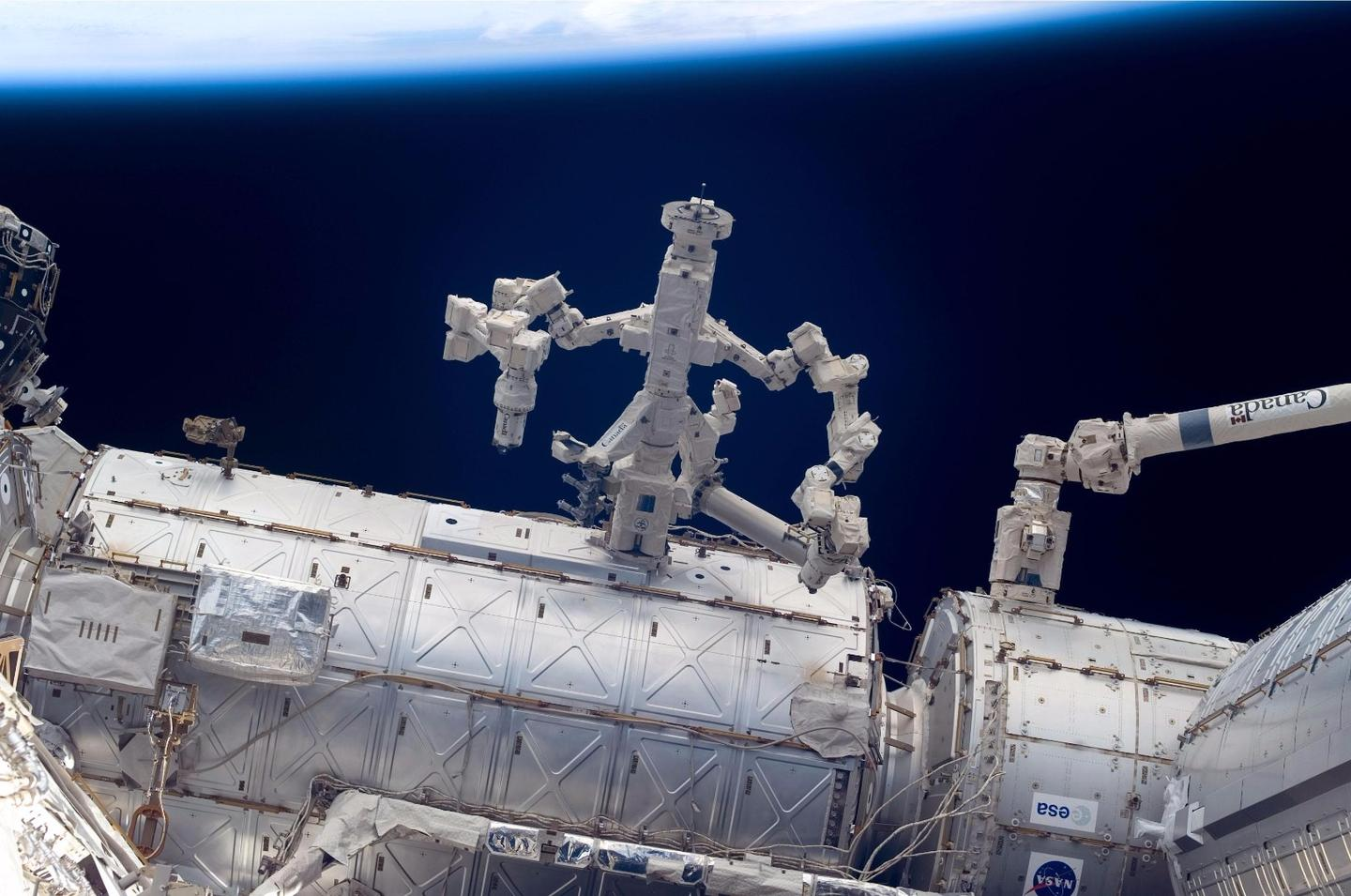 Dextre is the third Canadian robotic arm to be installed on the ISS