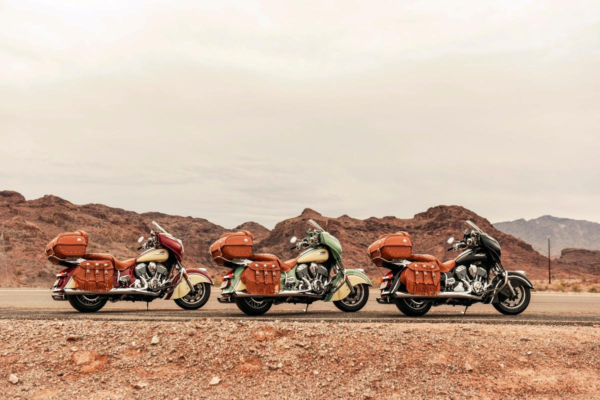 Indian Motorcycle introduces three color variations of the new Roadmaster Classic