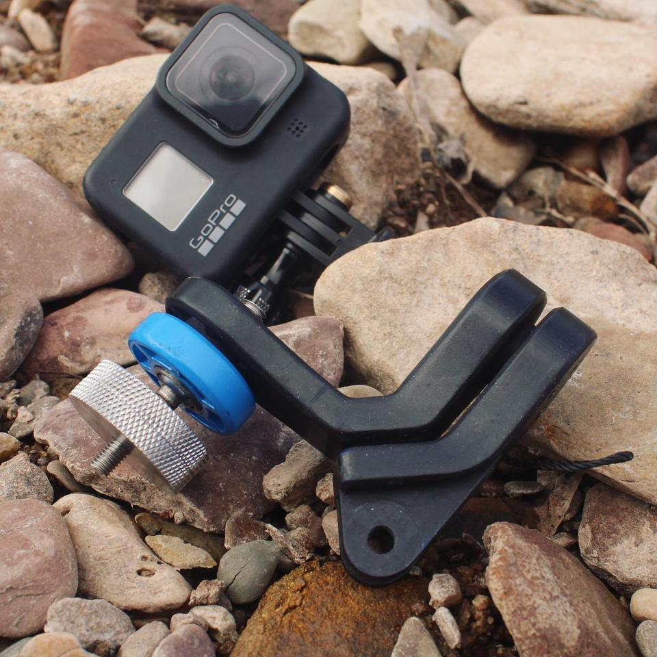 The GravGrip is GoPro-compatible
