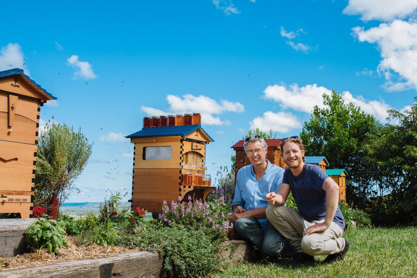 Father and son beekeeping team and inventors of the Flow Hive, Cedar and Stuart Anderson