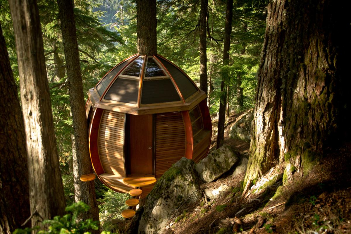 "Described by its creator as ""a secret treehouse hiding in the woods of Whistler,"" the story of the HemLoft is one with an uncertain ending (Photo: Heidi Hermanski)"