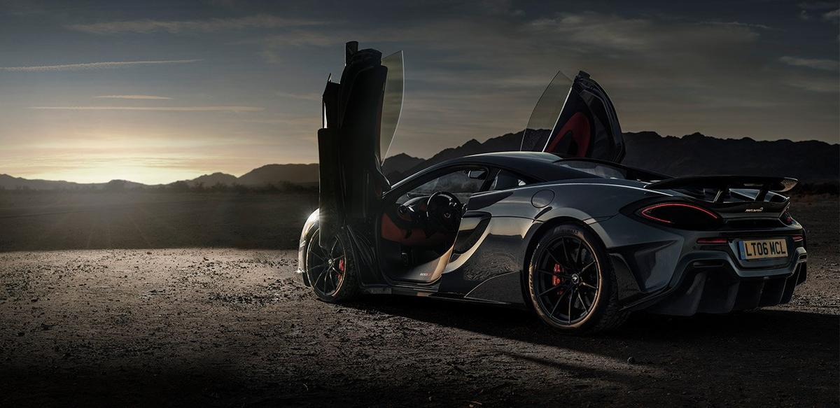 The track-focussed600LT has top-mounted exhausts that fire flames up into the air