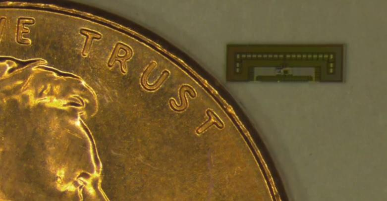Researchers have created prototype ant-sized radio-on-a-chip devices powered by ambient radio waves (Photo: Amin Arbabian/Stanford University)