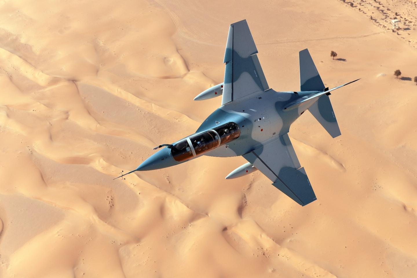 The T-100 is based on the Alenia Aermacchi M-346 Master jet trainer