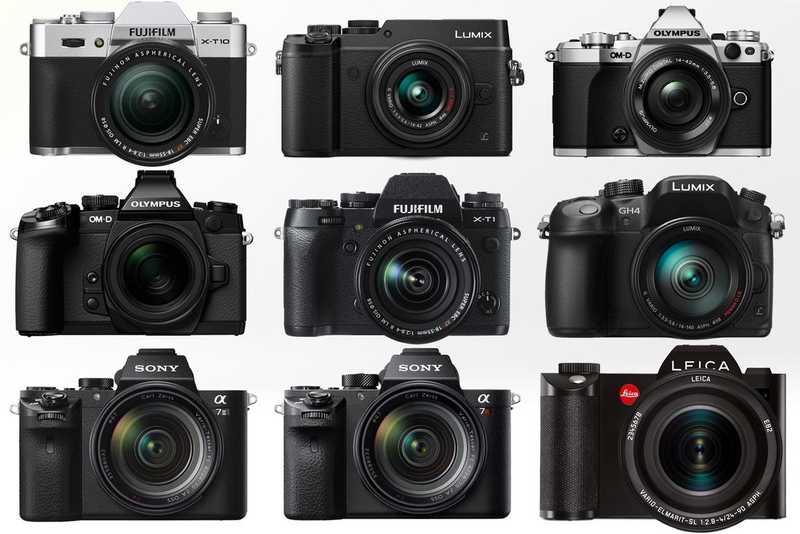 Gizmag compares the key specifications and features of some of the best mirrorless cameras available in 2015