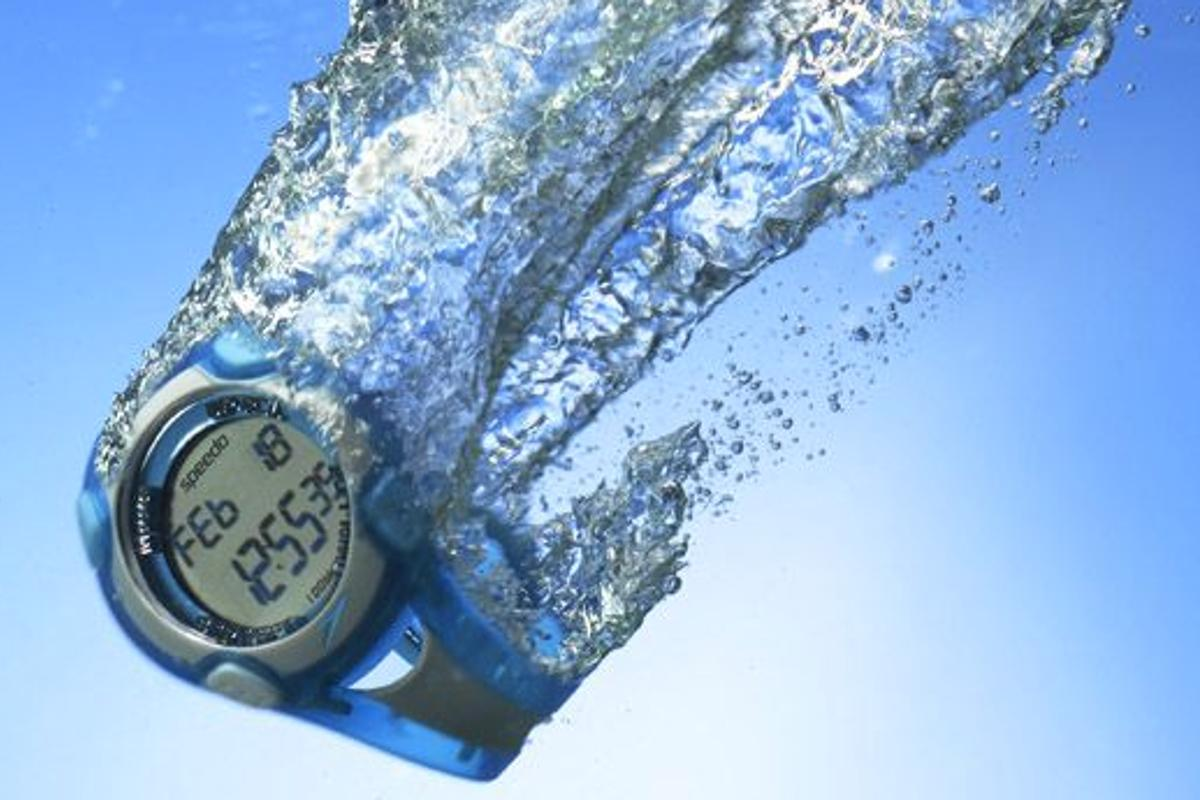 The Speedo Aquacoach is a swimmer's watch that automatically keeps track of data such as laps swum, number of strokes, speed, distance, and calories burned