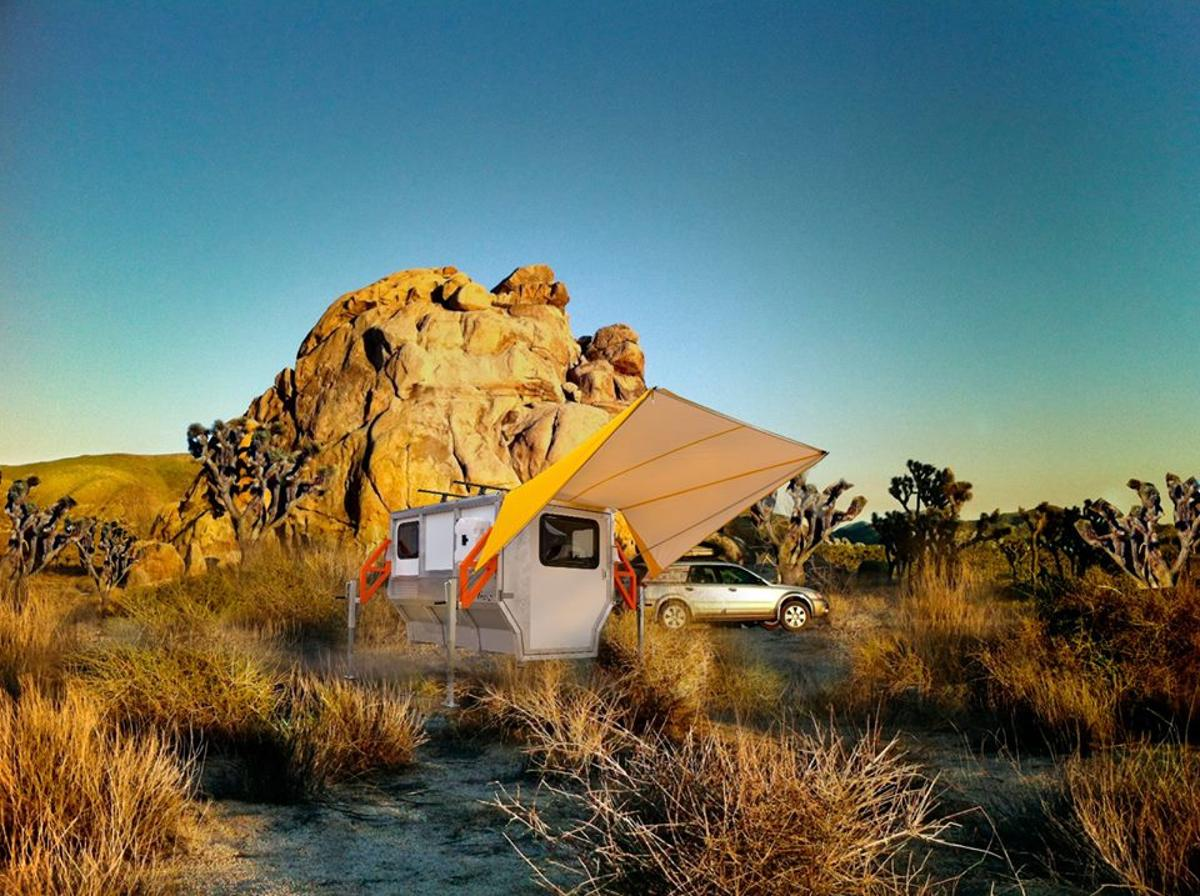 A Photoshopped rendering of the Firefly in beautiful Joshua Tree National Park