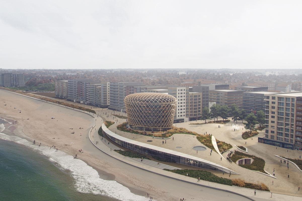 Casino Middelkerke is inspired by the sand dunes which previously existed on the stretch of coastline