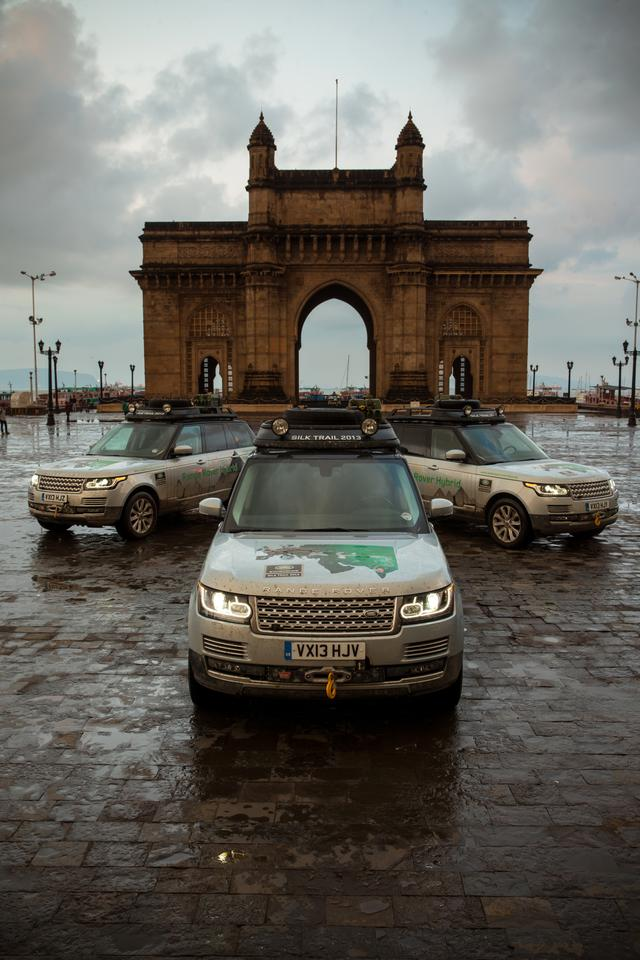 Three Range Rover Hybrid prototypes completed the 10,500-mile journey
