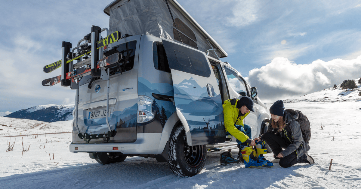 Nissan electric camper van concept is a backcountry ski hut on wheels
