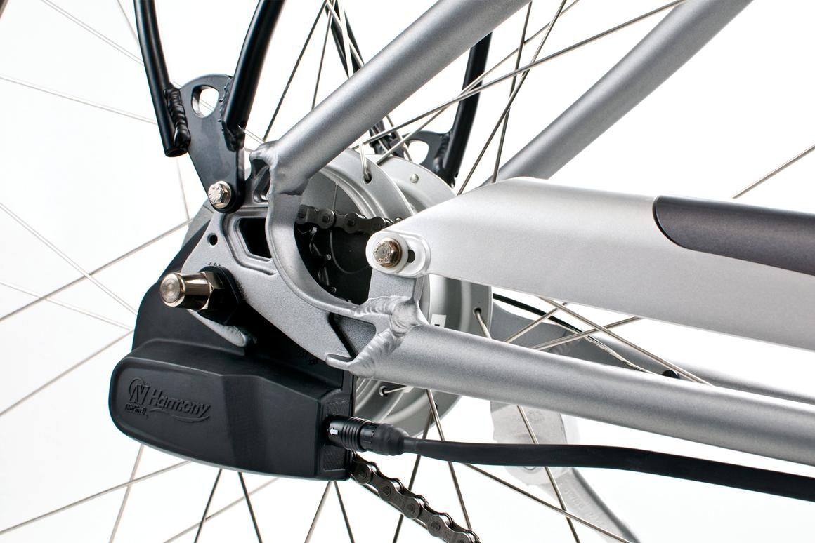 The NuVinci Harmony continuously variable planetary e-bike transmission automatically maintains the rider's pedaling cadence
