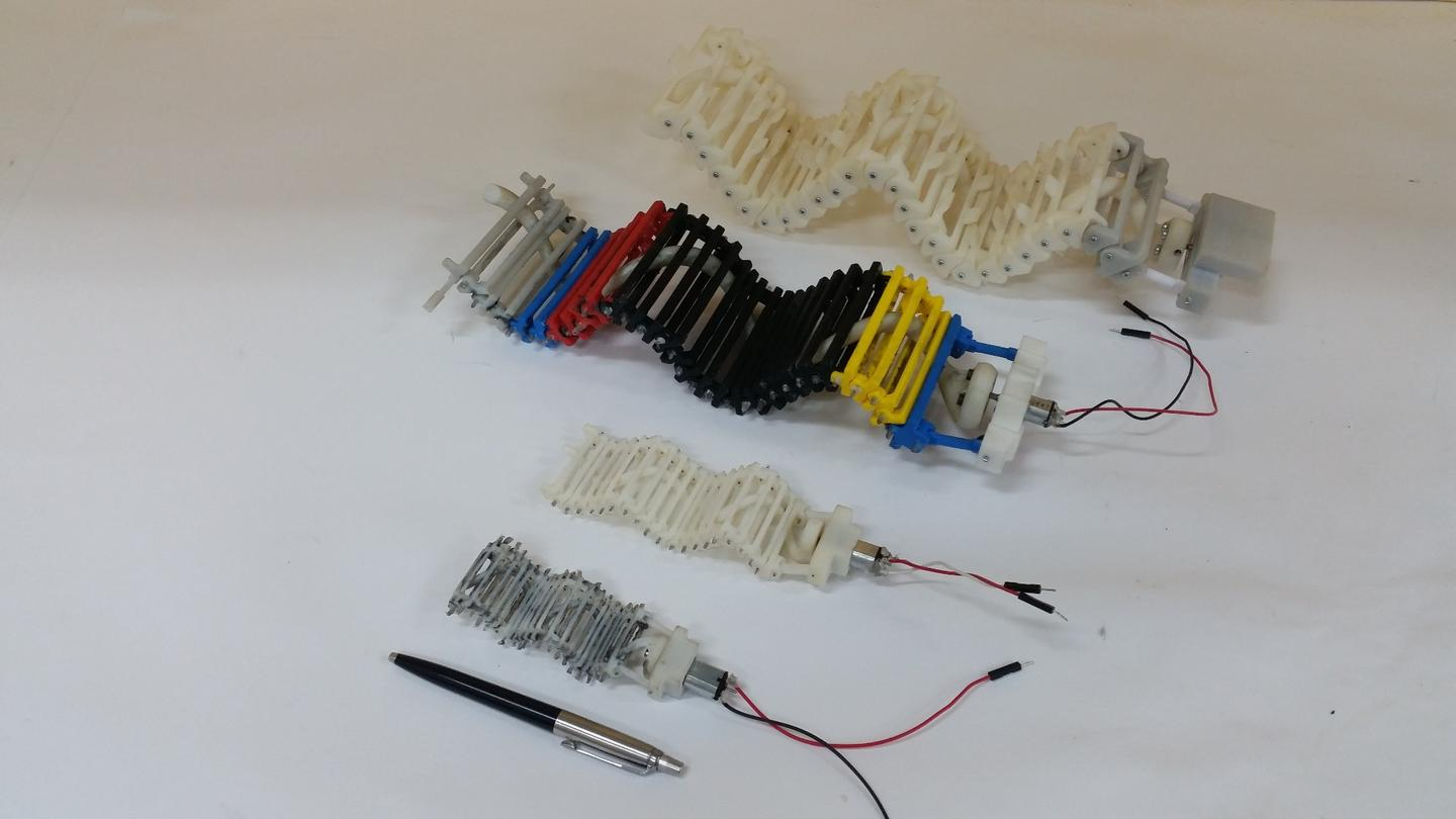 The wave motion mechanism can be produced in different sizes